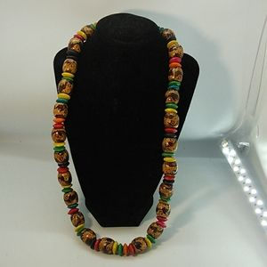 Jewelry - Wooden Colorful Necklace